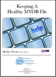 Keeping a Healthy MYOB File book